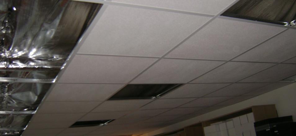Pl trerie faux plafond suspendu en dalles domont 95 ikououbel - Faux plafond suspendu en dalles isolantes ...