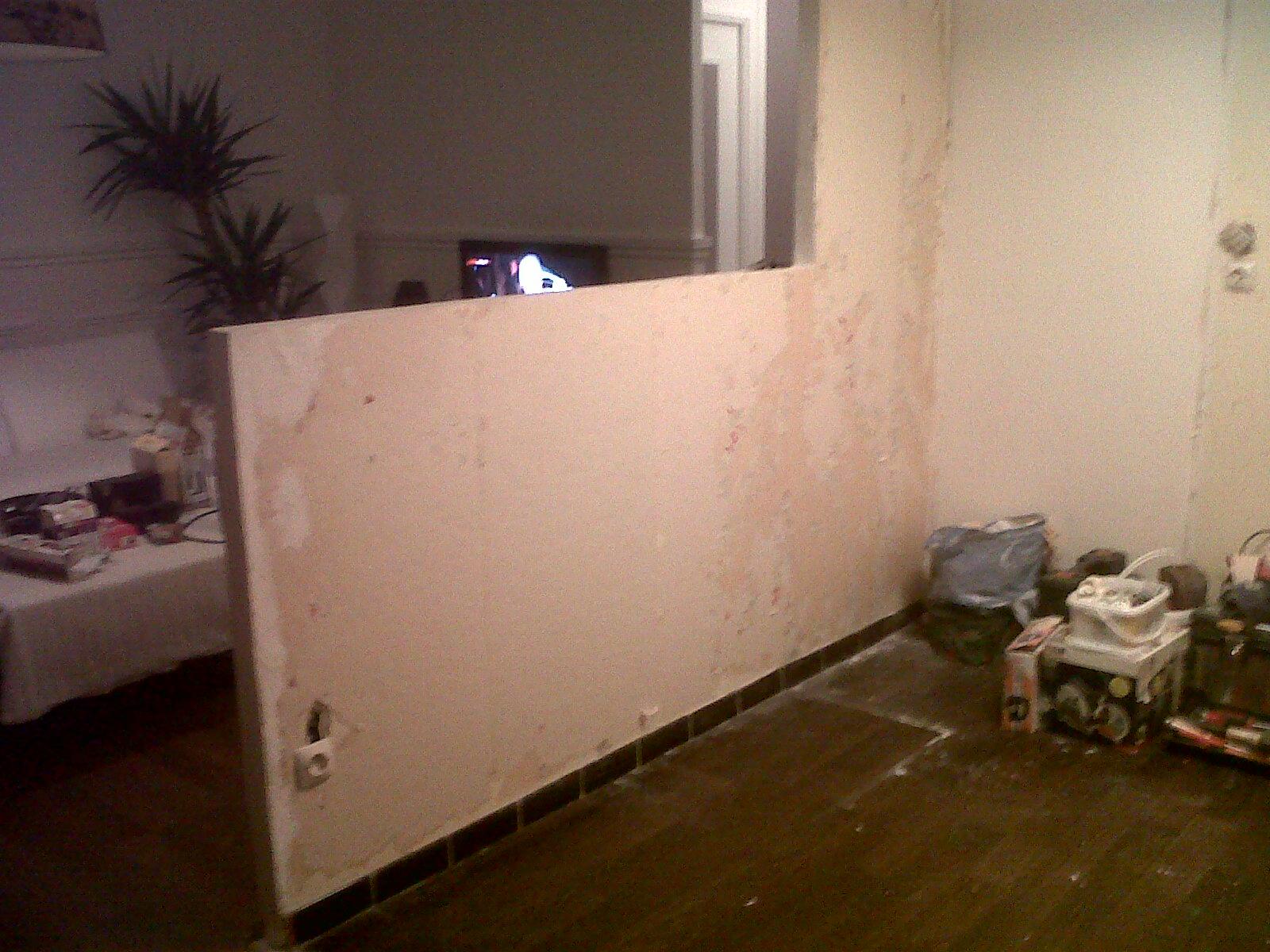 Vue sur la cuisine en cour ouverture sur cloison cot for Domont meuble